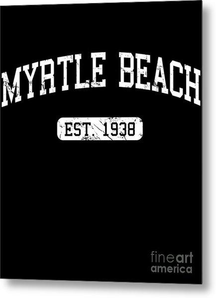 Metal Print featuring the digital art Myrtle Beach by Flippin Sweet Gear