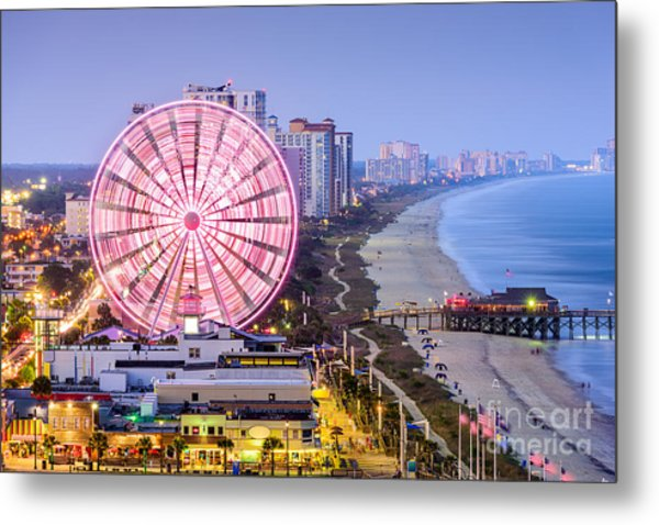 Myrtle Beach, South Carolina, Usa City Metal Print