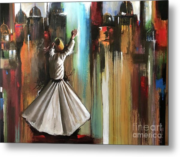 Metal Print featuring the painting Mystical Journey  by Nizar MacNojia