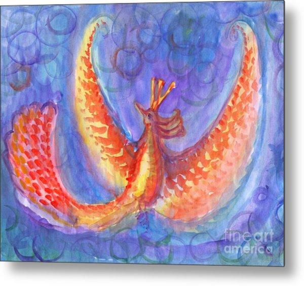 Mystical Phoenix Metal Print