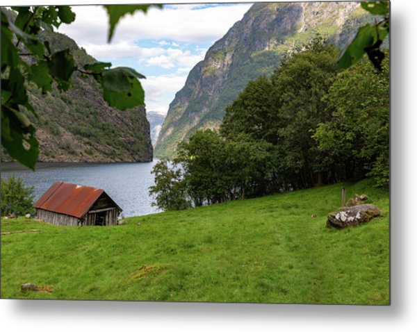 Metal Print featuring the photograph Naeroyfjord, Norway by Andreas Levi
