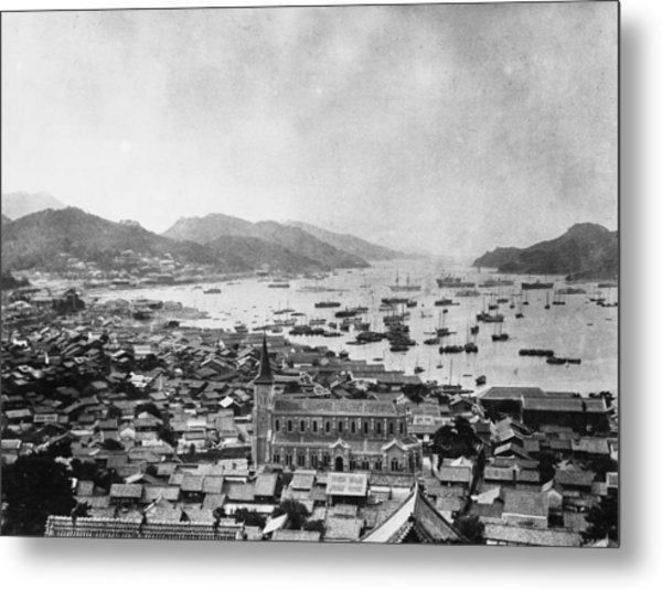 Nagasaki Harbour Metal Print by Topical Press Agency