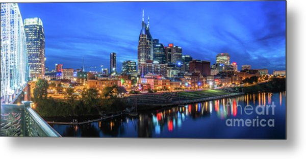 Nashville Night Metal Print