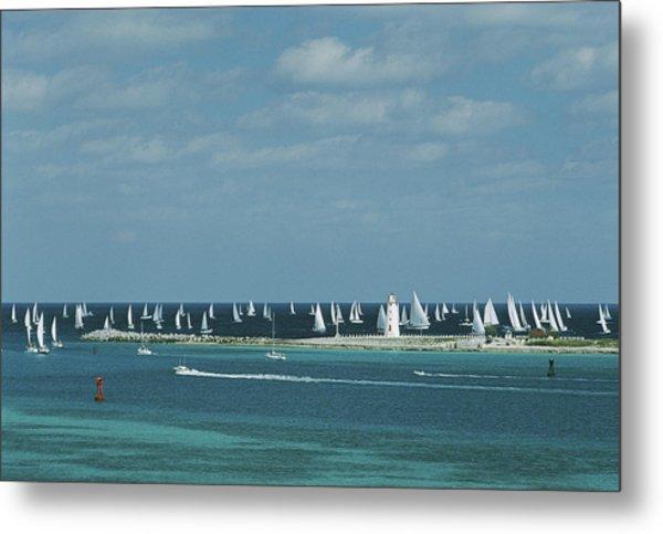 Nassau Sailing Metal Print