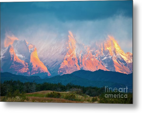 National Park Torres Del Paine In Metal Print by Kavram