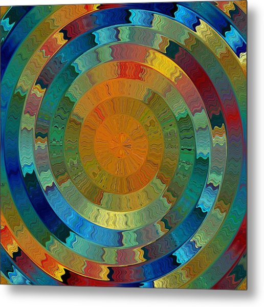 Native Sun Metal Print