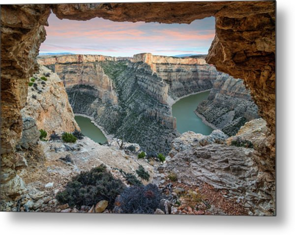 Natural Arch In Bighorn Canyon Metal Print