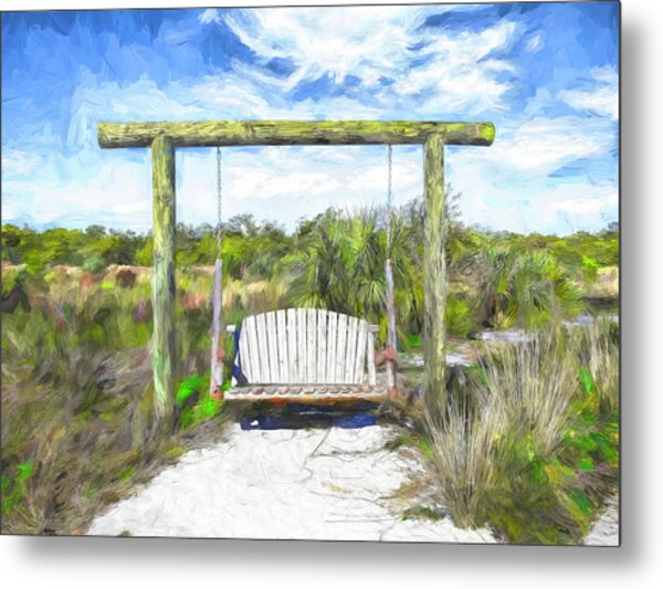 Nature Swing Metal Print