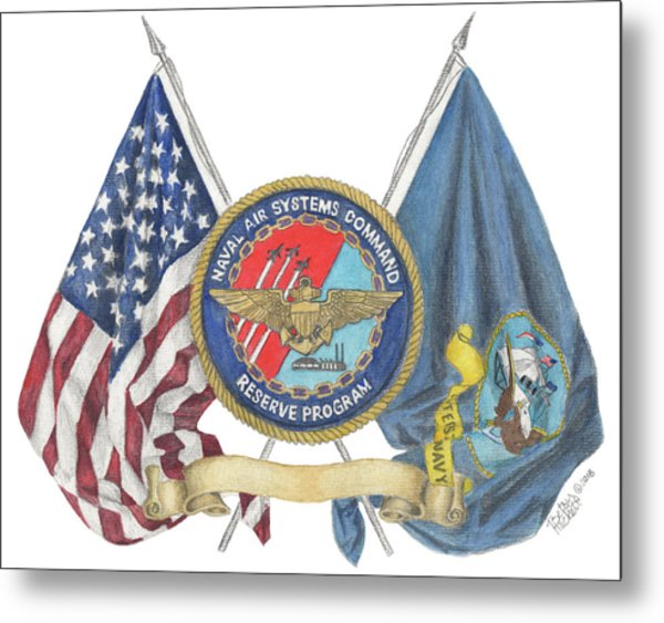 Naval Air Systems Command Reserve Program Metal Print