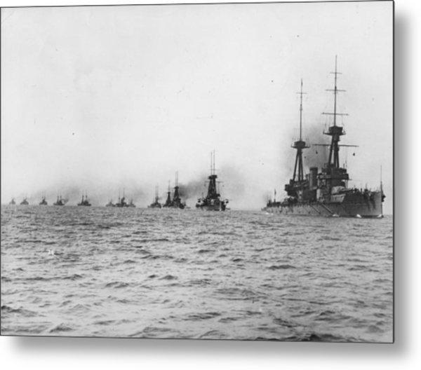 Naval Review Metal Print by Hulton Archive
