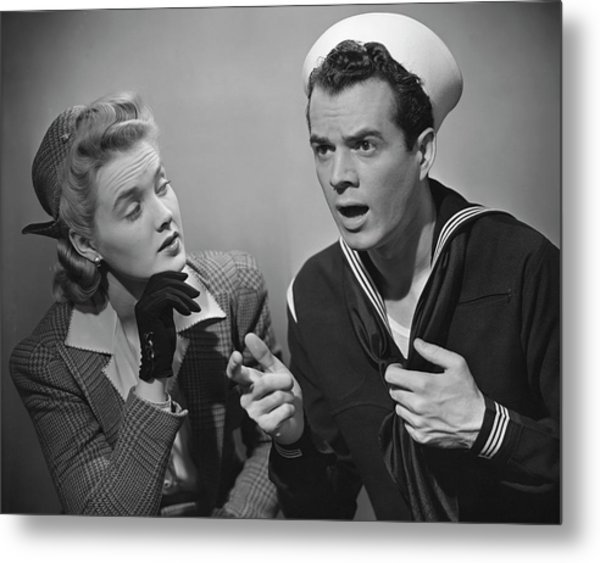 Navy Couple Metal Print by George Marks