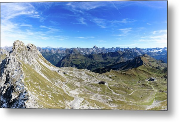 Metal Print featuring the photograph Nebelhorn Panorama by Andreas Levi