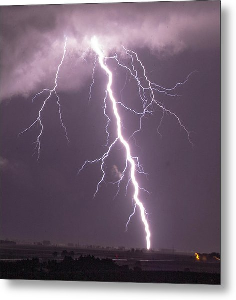 Nebraska Arcus And Lightning 046 Metal Print