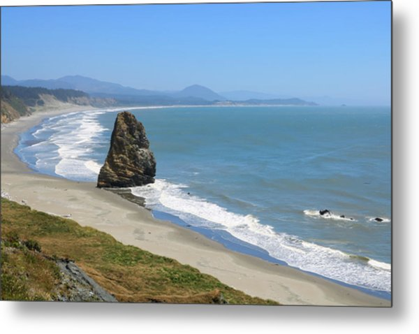 Metal Print featuring the photograph Needle Rock 1, Cape Blanco, Oregon by Dawn Richards