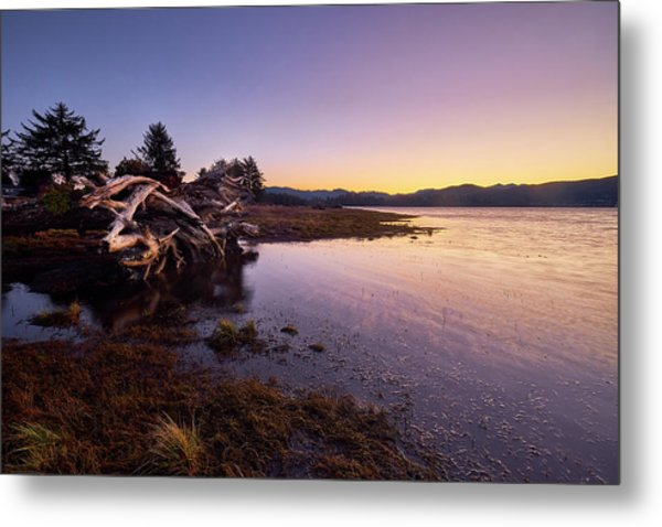 Metal Print featuring the photograph Nehalem Bay Sunrise by Whitney Goodey