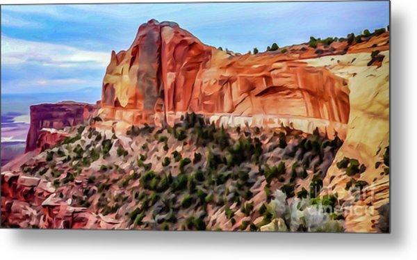 Neighboring Mesa Arch - Photopainting Metal Print by Bob Lentz