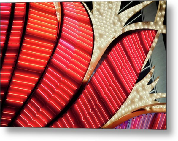 Neon Lights In Las Vegas, Nevada Metal Print by Raisbeckfoto