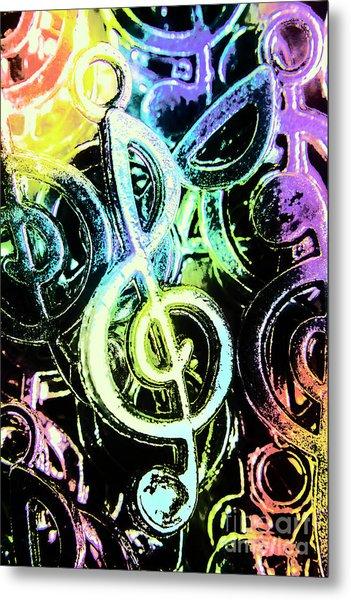 Neon Notes Metal Print