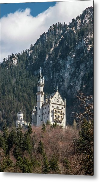 Neuschwanstein Castle On The Hill 2 Metal Print
