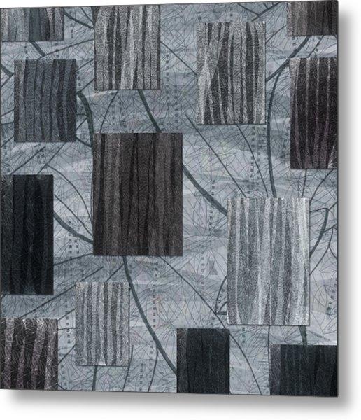 Neutral Toned Leaf Square Print Metal Print