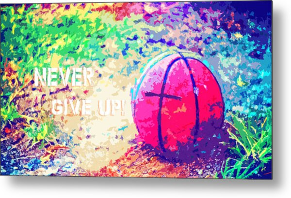 Never Give Up Hebrews Chapter 11 Metal Print
