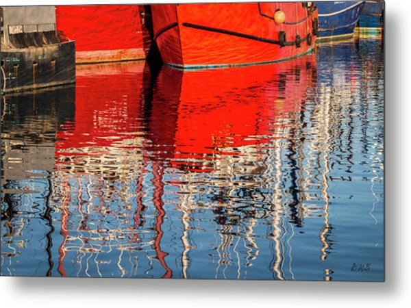 Metal Print featuring the photograph New Bedford Waterfront Xxxi Color by David Gordon