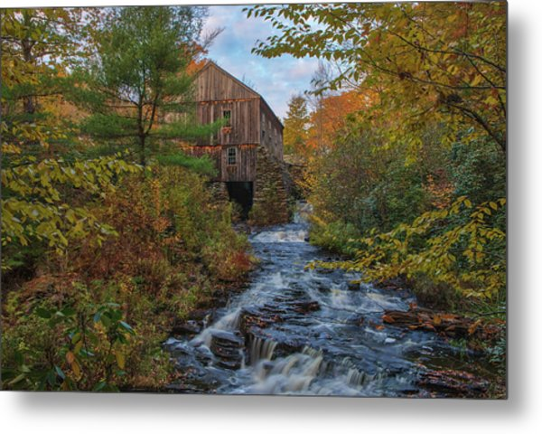Metal Print featuring the photograph New England Fall Foliage At Moore State Park by Juergen Roth