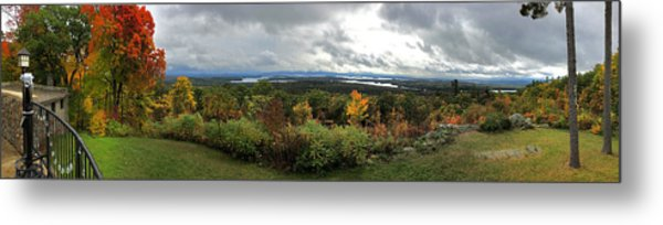 Metal Print featuring the photograph New England Fall Panoramic - Castle In The Clouds by Joann Vitali