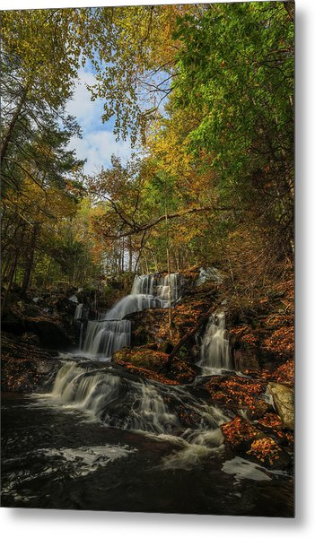 Metal Print featuring the photograph New Hampshire Garwin Waterfall by Juergen Roth