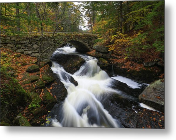 Metal Print featuring the photograph New Hampshire Gleason Falls by Juergen Roth