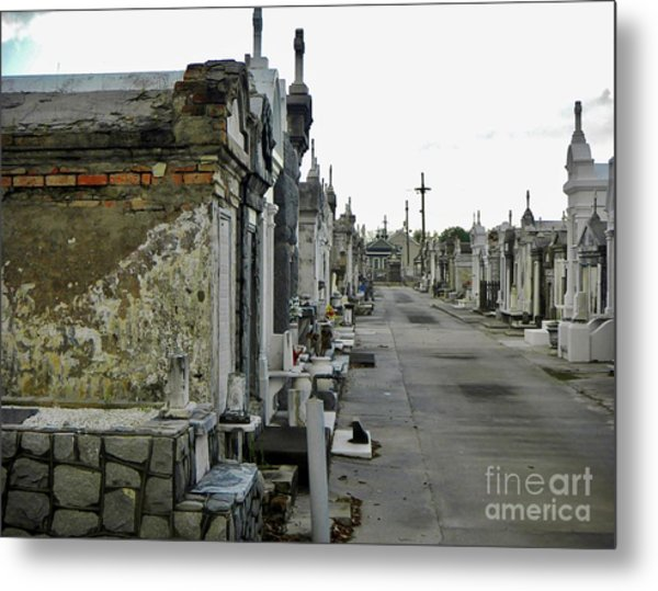 Metal Print featuring the photograph New Orleans Cemetery by Rosanne Licciardi