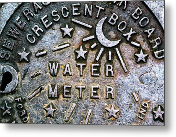 New Orleans Water Meter Cover Metal Print
