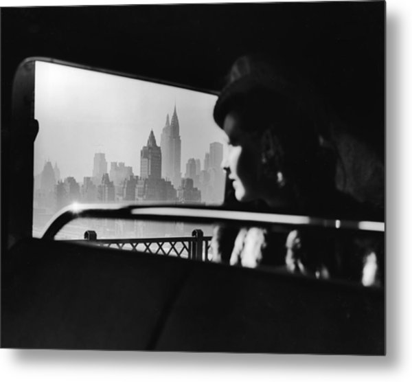New York City Midtown Skyline Metal Print