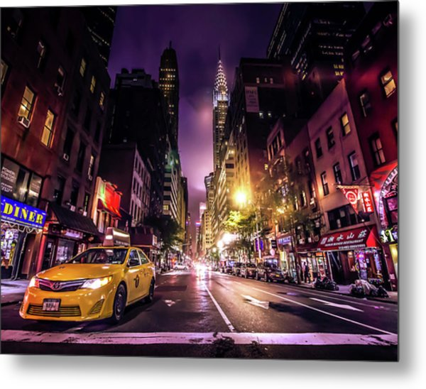 New York City Street Metal Print