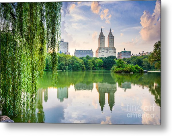 New York City, Usa At The Central Park Metal Print by Sean Pavone