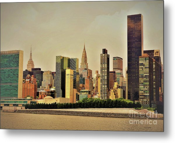 New York East River Metal Print