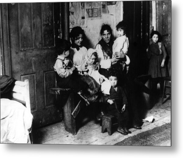 New York Slum Metal Print by General Photographic Agency