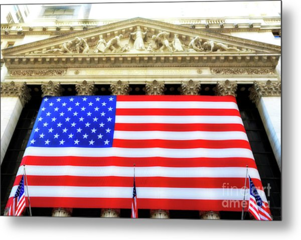 New York Stock Exchange Glow Metal Print