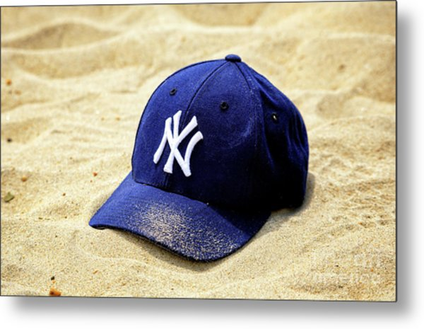 New York Yankees Beach Cap Metal Print