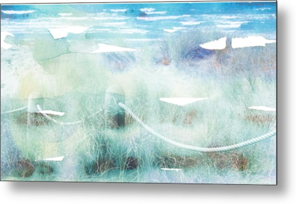 New Zealand Beachscape Metal Print