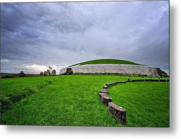 Newgrange Megalithic Passage Tomb Metal Print