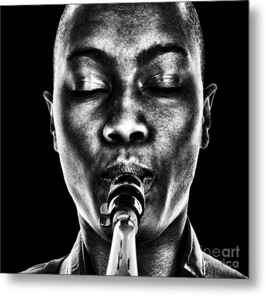 Nice Image Of A Afro American Woman Metal Print by Laurin Rinder