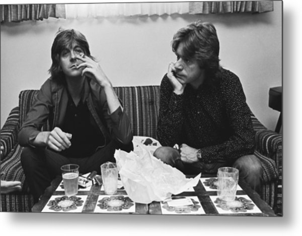 Nick Lowe & Dave Edmunds Portrait Metal Print