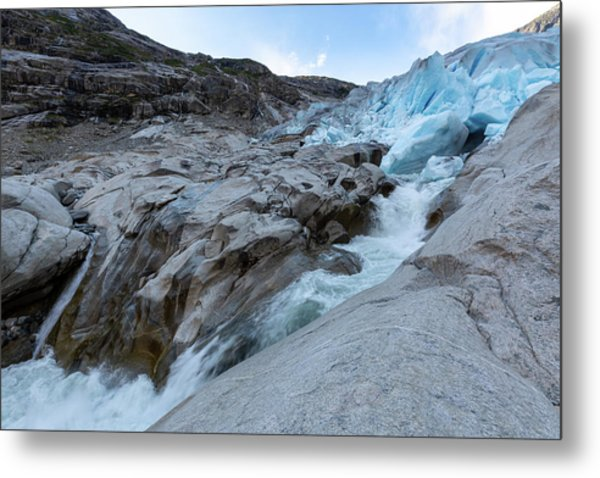 Metal Print featuring the photograph Nigardsbreen, Norway by Andreas Levi