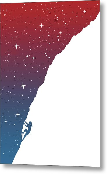 Night Climbing II Metal Print