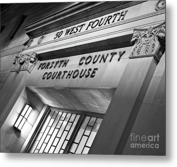 Metal Print featuring the photograph Night Court by Patrick M Lynch