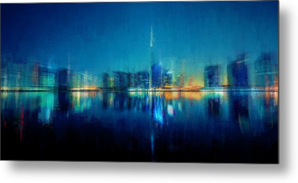 Night Of The City Metal Print