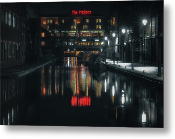 Night Out At The Mailbox Metal Print