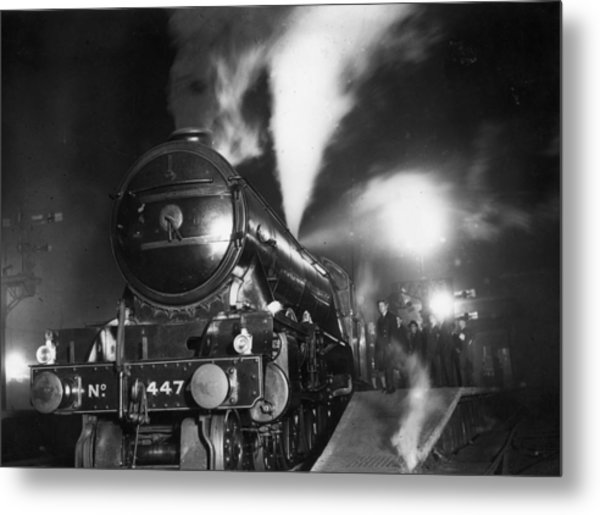 Night Train Metal Print by Topical Press Agency