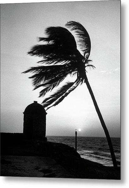 Night View Of San Felipe Fort Metal Print by Dmitri Kessel